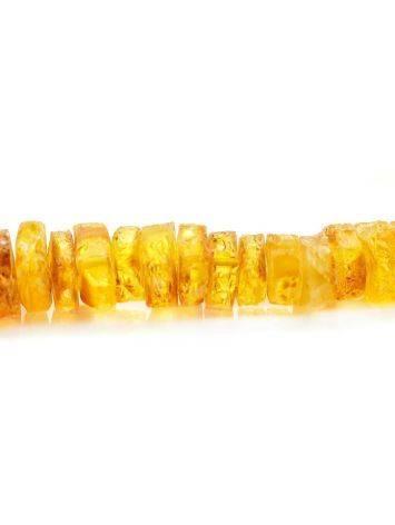 Янтарные лечебные бусы «Шайбы коньячного цвета», фото , изображение 3