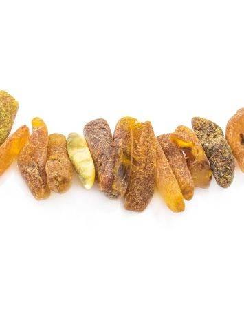 Лечебные бусы из янтаря «Галька пёстрая дикая», фото , изображение 2