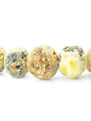 Бусы из натурального янтаря «Метеорит светлый», фото , изображение 4