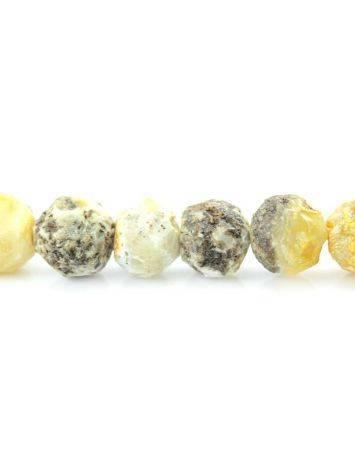 Бусы из натурального янтаря «Метеорит светлый», фото , изображение 5