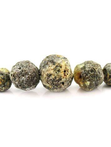 Бусы из натурального янтаря «Метеорит пёстрый», фото , изображение 3