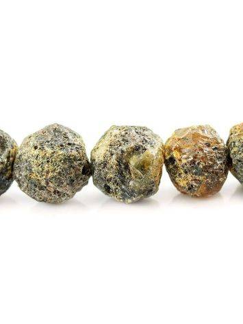 Бусы из натурального янтаря «Метеорит пёстрый», фото , изображение 4