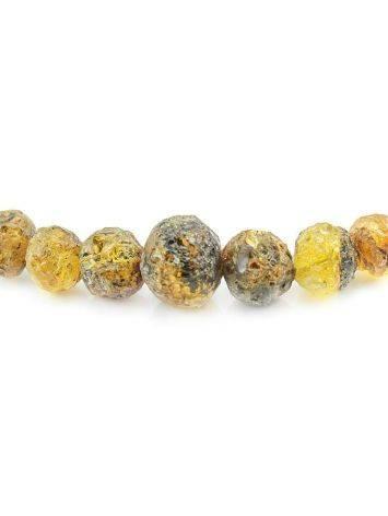 Бусы из натурального янтаря «Метеорит мелкий золотистый», фото , изображение 2