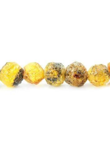 Бусы из натурального янтаря «Метеорит мелкий золотистый», фото , изображение 4