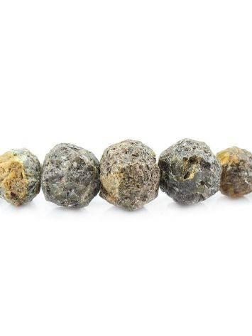 Бусы из натурального янтаря «Метеорит черный», фото , изображение 2