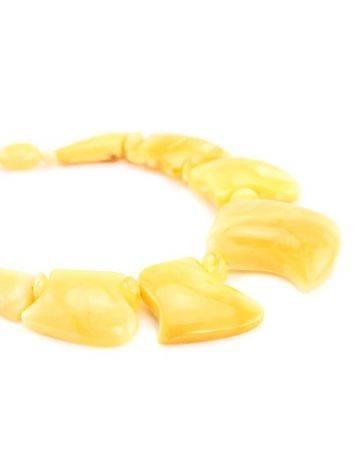 Колье из цельного натурального пейзажного янтаря «Медуза», фото , изображение 2