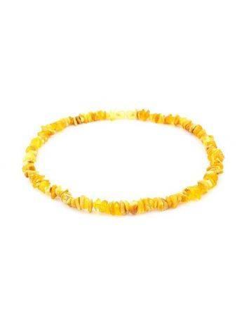 Бусы из натурального нешлифованного янтаря «Мелкие золотисто-медовые», фото , изображение 3