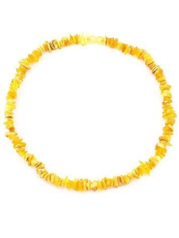Бусы из натурального нешлифованного янтаря «Мелкие золотисто-медовые», фото , изображение 5