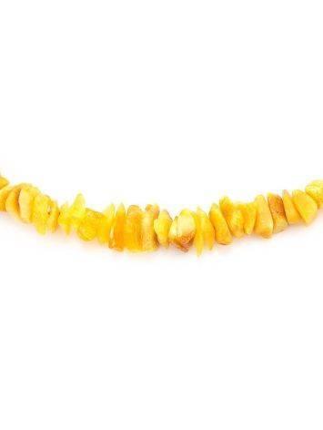 Бусы из натурального нешлифованного янтаря «Мелкие золотисто-медовые», фото , изображение 2
