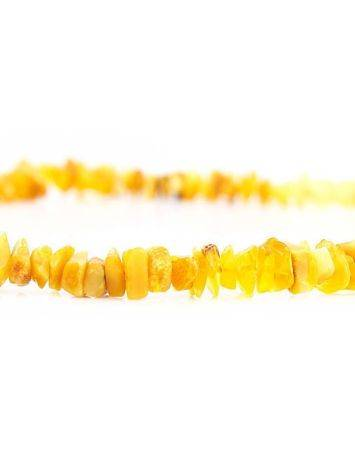 Бусы из натурального нешлифованного янтаря «Мелкие золотисто-медовые», фото , изображение 4