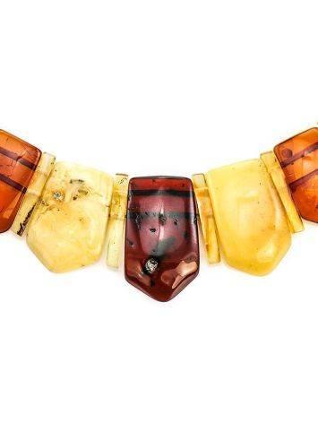 Оригинальное эффектное колье из натурального балтийского янтаря «Клеопатра», фото , изображение 2