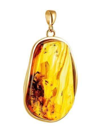 Подвеска из натурального янтаря с несколькими инклюзами «Клио», фото , изображение 9