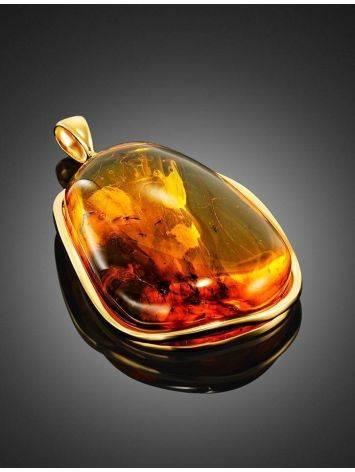Подвеска из натурального янтаря с несколькими инклюзами «Клио», фото , изображение 3