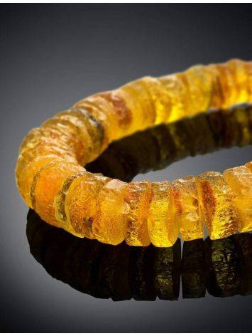 Янтарные лечебные бусы «Шайбы коньячного цвета», фото , изображение 2