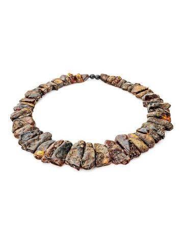 Колье с лечебным эффектом из натурального балтийского янтаря «Помпеи», фото , изображение 4