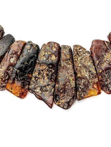 Колье с лечебным эффектом из натурального балтийского янтаря «Помпеи», фото , изображение 5