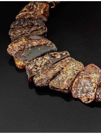 Колье с лечебным эффектом из натурального балтийского янтаря «Помпеи», фото , изображение 3