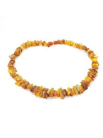 Лечебные бусы из янтаря «Галька пёстрая дикая», фото , изображение 3