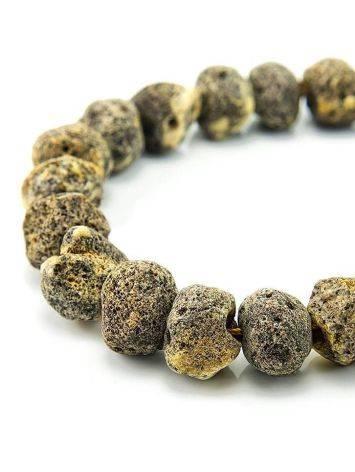 Янтарные лечебные бусы «Метеорит светлый пёстрый», фото , изображение 3