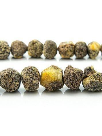 Янтарные лечебные бусы «Метеорит светлый пёстрый», фото , изображение 5