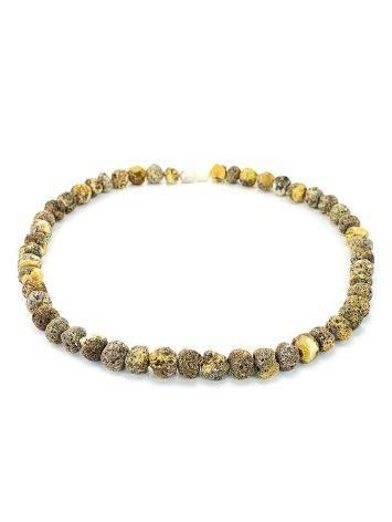 Янтарные лечебные бусы «Метеорит светлый пёстрый», фото , изображение 4