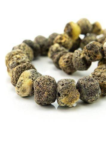 Янтарные лечебные бусы «Метеорит светлый пёстрый», фото , изображение 6