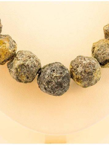 Бусы из натурального янтаря «Метеорит», фото , изображение 2