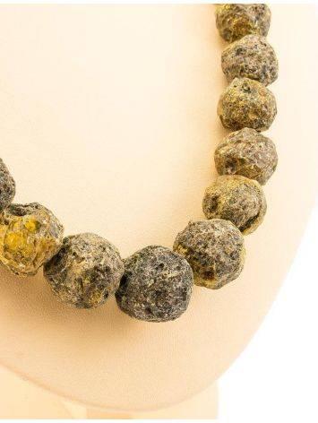 Бусы из натурального янтаря «Метеорит», фото , изображение 6