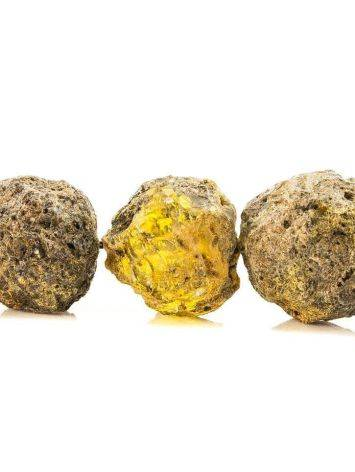 Бусы из натурального янтаря «Метеорит», фото , изображение 4