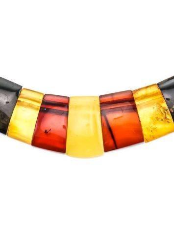 Плоское колье из натурального балтийского янтаря «Египет», фото , изображение 3