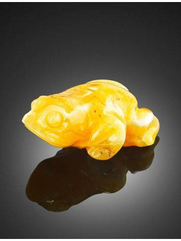 Сувенир из натурального цельного янтаря «Лягушка», фото , изображение 2