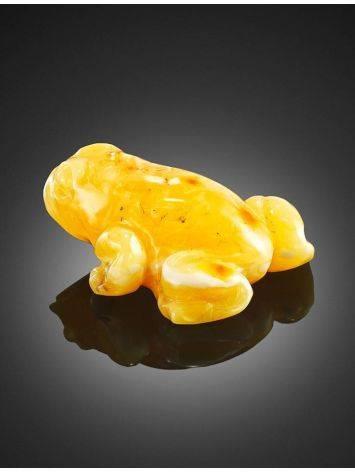 Сувенир из натурального цельного янтаря «Лягушка», фото , изображение 4