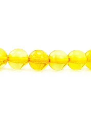 Чётки из натурального янтаря ярко-лимонного цвета на 33 бусины, фото , изображение 5