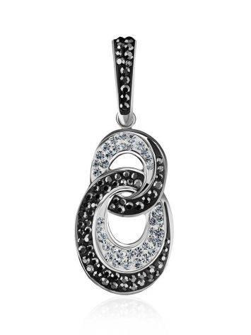 Серебряная подвеска с черными и белыми кристаллами Eclat, фото