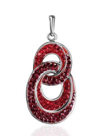 Серебряная подвеска с красными кристаллами Eclat, фото
