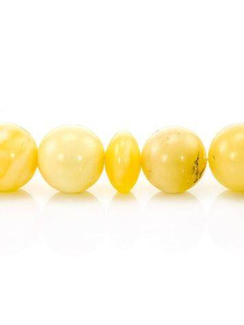 Четки мусульманские из натурального цельного янтаря «Шары медовые» (33 бусины), фото , изображение 4