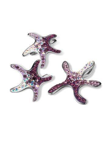 Яркие необычные серебряные серьги с кристаллами Jungle, фото , изображение 4