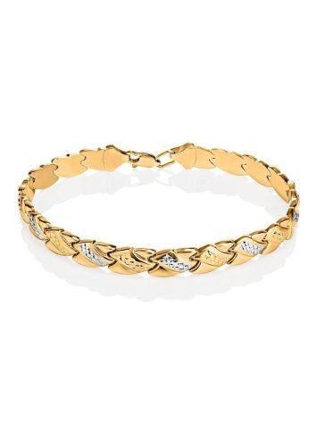 Женственный золотой браслет с кристаллами, фото