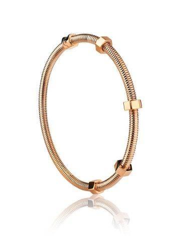 Минималистичный золотой браслет-обруч, фото