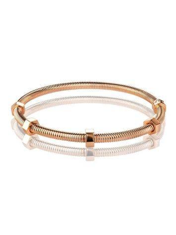Минималистичный золотой браслет-обруч, фото , изображение 3