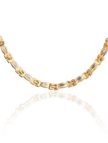 Двухцветное золотое ожерелье, фото