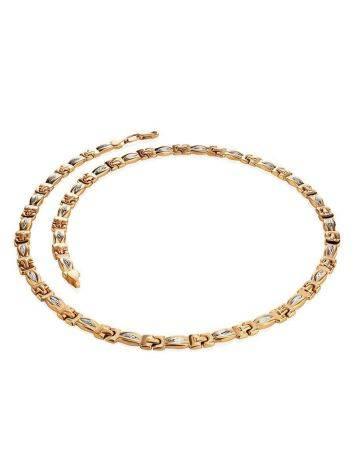 Двухцветное золотое ожерелье, фото , изображение 3