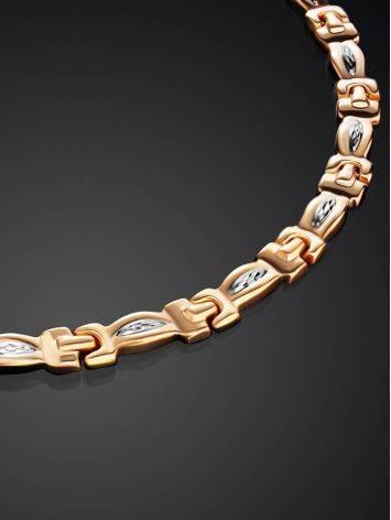 Двухцветное золотое ожерелье, фото , изображение 2