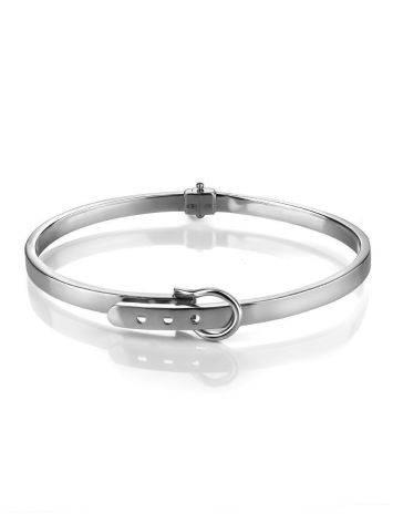 Ультра-стильный браслет-обруч из белого золота, фото , изображение 3