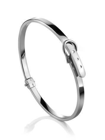 Ультра-стильный браслет-обруч из белого золота, фото