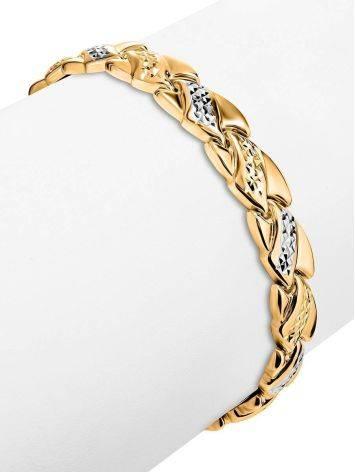 Женственный золотой браслет с кристаллами, фото , изображение 3
