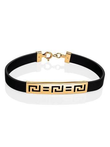 Золотой браслет в стиле унисекс, фото