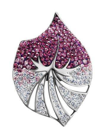 Двухцветная серебряная подвеска с кристаллами Jungle, фото