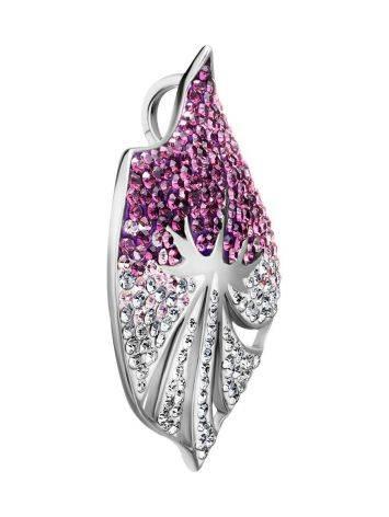 Двухцветная серебряная подвеска с кристаллами Jungle, фото , изображение 3