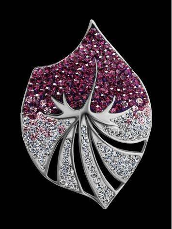 Двухцветная серебряная подвеска с кристаллами Jungle, фото , изображение 2